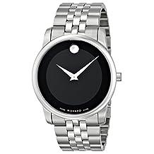 Movado Men's 0606504 Museum Stainless Steel Black Museum Dial Bracelet Watch