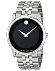 Movado Men's 0606504 Museum Stainless Steel Black Museum Dial Bracelet Watch
