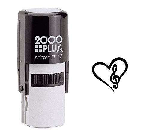 StampExpression - in Love with Music Self Inking Rubber Stamp - Black Ink (A-6190)