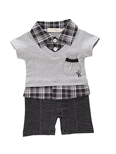 AvaCostume Baby Boy Short Sleeves Casual Shirts Jumpsuit