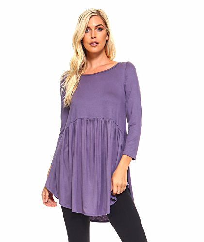 Long Sleeve Baby Doll Top - 4