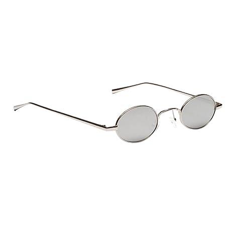 MagiDeal Mujer Hombre Gafas de Sol Ovalado pequeñas Gafas de ...