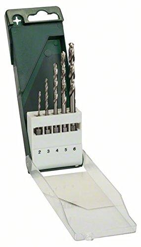 Bosch DIY 5tlg. Metallbohrer-Set (HSS-G geschliffen mit 1/4 Zoll-Sechskantschaft)