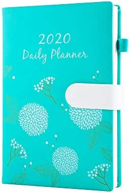 Hourly Planner 2020 Daily Monthly Planners One Page Per Day A5 Work Schedule Planner Time Management Agenda Green