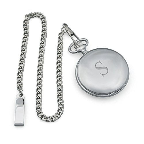 Cathy's Concepts Personalized Silver-Plated Pocket Watch,...