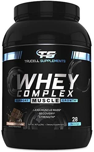Trucell Supplements Whey Complex, 100 Whey Protein, Non GMO, Chocolate Milkshake, 2 lb.