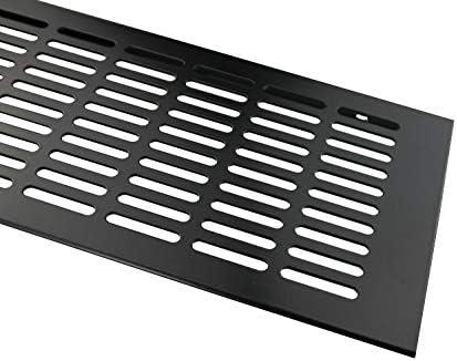 Braun eloxiert L/üftungsgitter Aluminium Stegblech L/üftung 130 mm x 1000 mm in Verschiedenen Farben
