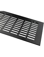 Aluminium lamellenplaat met een breedte van 130 mm ventilatierooster uit aluminium door middel van een luchtdeksel in vele kleuren en lengtes (600mm, Zwart - RAL9005)