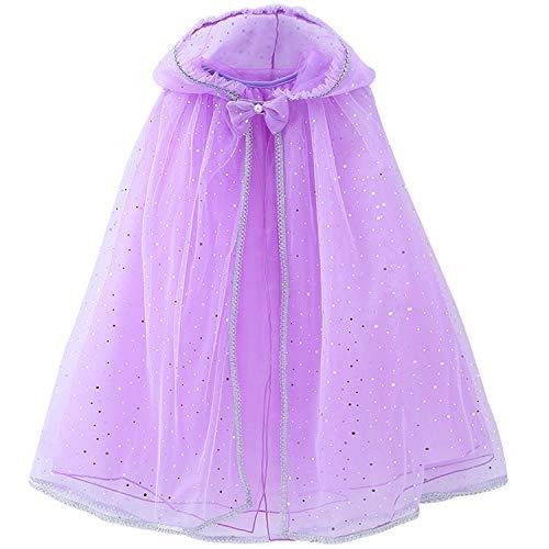 Girls Cloak (4 Years(Tag 110), F- Pure Purple)