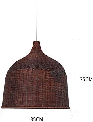 Pantallas para lámparas de techo Lámpara colgante de campana colgante blanca Luces colgantes de bombilla E27 vintage para comedor Decoración para el hogar Lámpara de ratán de planetario Bar Resta: Amazon.es: Hogar