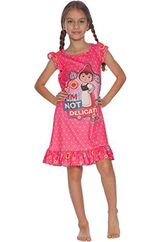 INTIMO Girls' Little' Sherlock Gnomes Juliet Ruffle Nightgown, Pink, 6/6X