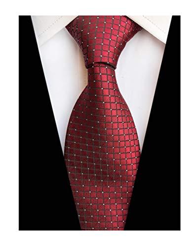 (Mens Bungundy Wine Red Ties Retro Skinny Suit Microfiber Necktie for Office Gift)