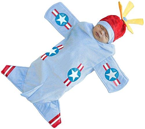 [Bennett the Bomber Plane Baby Costume] (Bennett Bomber Bunting Costumes For Infants)