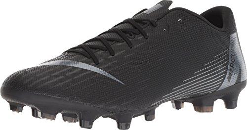 Nike Men's Vapor 12 Academy (MG) Soccer Cleat, Black/Black, 8