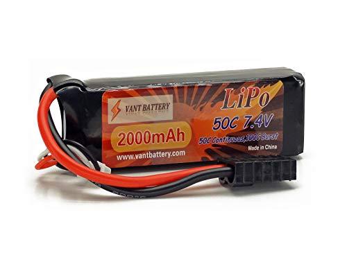 7.4V 2000mAh 2S Cell 50C-100C LiPo Battery Pack w/ Traxxas High Current Style Connector & Warranty (1/16 E-Revo, 1/16 Slash, 1/16 Summit) (Style Battery Lipo)