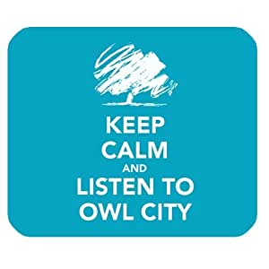 Generic Personalized keep calm and listen to owl city graffiti style for Rectangle Mouse Pad