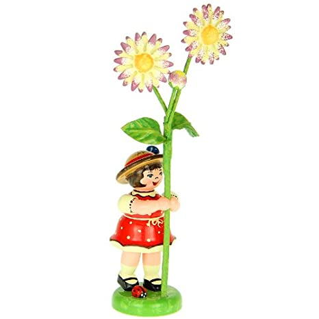 Blumenkind Mädchen mit Gänseblume 307h0055 Hubrig Volkskunst