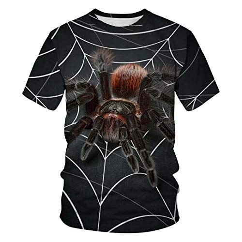 Tsyllyp Superhero Shirts Adult Spider Halloween Costume Short Sleeve Tee Unisex -