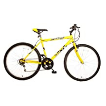 Titan 102-8118 Men's Pioneer 12-Speed Commuter Mountain Bike, Yellow, 18-Inch/One Size