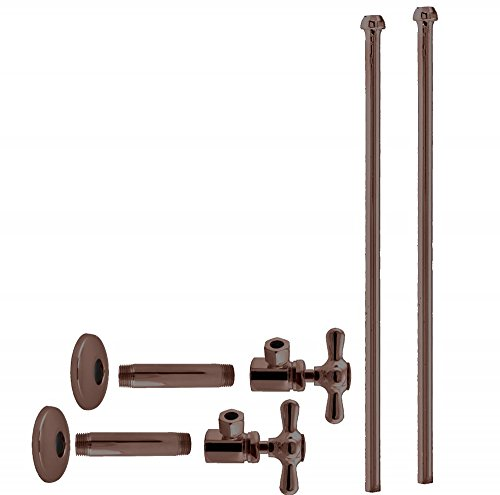 Westbrass D103KBNX-12 Faucet Kit 1/2'' Ips x 3/8'' OD x 20'' Bullnose, Oil Rubbed Bronze by Westbrass