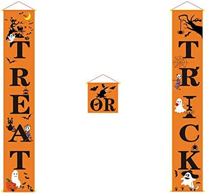 Truco o trato Banner de la puerta de Halloween Cartel ...