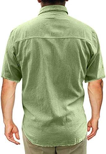 Charku 夏服 メンズ Tシャツ 半袖 綿麻 無地 夏 服 ボタン付き 軽い 柔らかい シルエット おしゃれ ファッション 人気 快適 薄手 麻 ストリート リンネル カジュアル シャツ ブラウス トップス カジュアル トップ シャツ 夏季対応