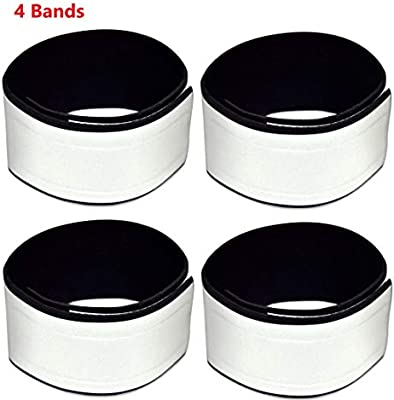 1.8 Very Large Reflective Surface Area Reflective Neoprene Ankle Bands Pair