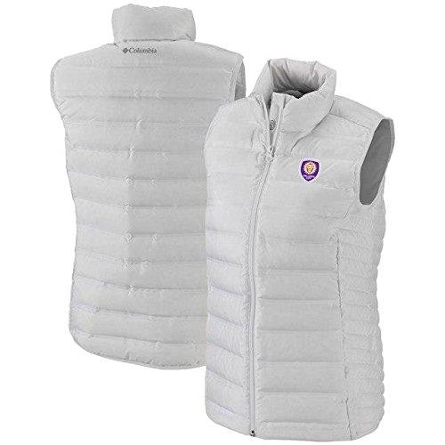 事件、出来事カプラー頑丈Columbia Columbia Orlando City SC Women's White Lake 22 Full-Zip Vest アウターウェア ジャケット/アウター 【並行輸入品】