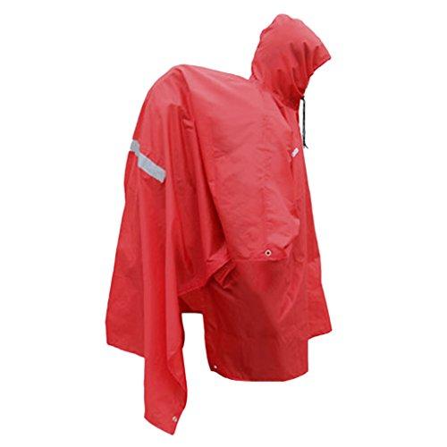 MagiDeal Multifunctional Raincoat Poncho Backpack