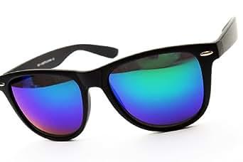 Outray Flat Reflective Unisex Wayfarer Sunglasses 8025 Green