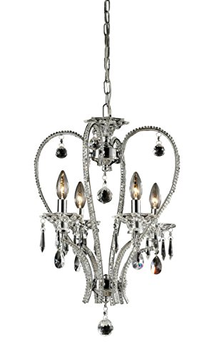 Nulco Chrome Chandelier - Nulco by ELK Lighting 82001/4 Drapersfield 4-Light Chandelier, Chrome