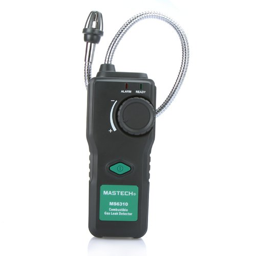 [MASTECH MS6310 Combustible Gas Leak Detector Natural Gas Propane W/ Sound Light Alarm] (Gas Detector)