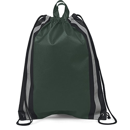 Pack of 50- Two Tone Non Woven Large Drawstring Backpack Cinch Bag Size 16