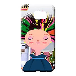 samsung galaxy s6 cover PC style mobile phone carrying shells hair style