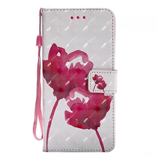 Samsung Galaxy S9Plus móvil, cowx Teléfono Móvil para Samsung Galaxy S9Plus Carcasa Piel Flip Case Cartera Funda Carcasa para Samsung S9Plus Funda Cover Rojo Rose