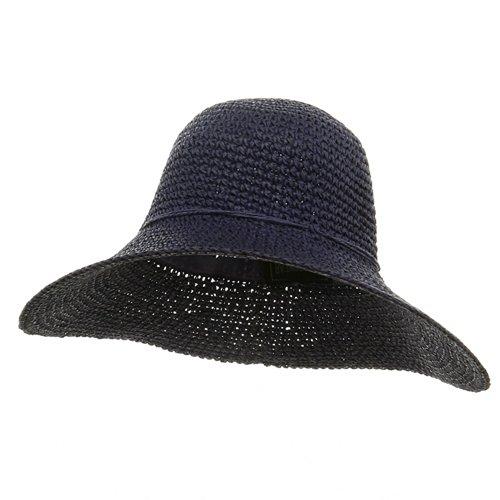 Ladies Hand Crocheted Hat-Purple