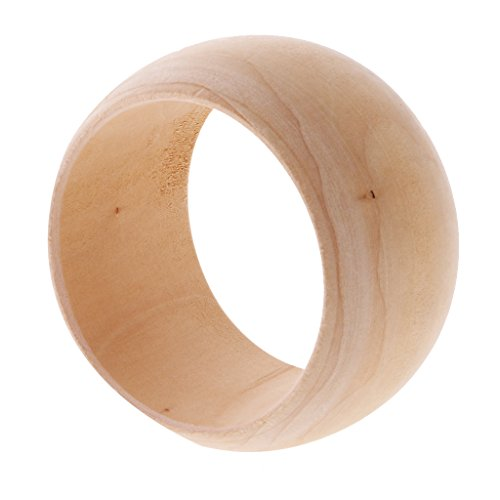 Dovewill 48mm Wide Handemade Unfinished Wooden Wood Big R...