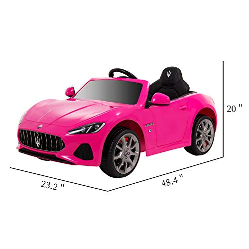 Uenjoy Maserati Grancabrio 12V Electric Kids Ride On Cars Motorized Vehicles for Girls W/Remote Control, Wheels Suspension, Mp3 Player, Light, Pink by Uenjoy (Image #3)