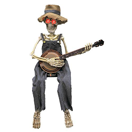 Fun Express - Skeleton Playing Banjo 39 in for Halloween - Home Decor - Decorative Accessories - Home Accents - Halloween - 1 Piece]()