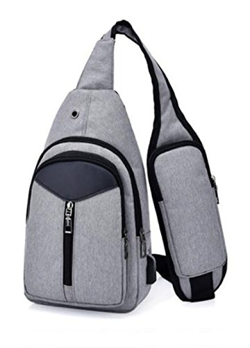 Tuvana Sling Chest Bag Casual Shoulder Backpack Cross Body Daypack with Adjustable Shoulder Strap for Travel Outdoor Cycling Hiking Camping HeadPhone, Phone Easy Access, USB Charging Port,Anti Theft by Tuvana