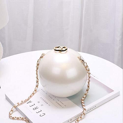 Sac Mini à soirée pour Portefeuille Forme Ballon de Femme Acrylique Sac en Rond 17CM L d'embrayage Main de Hungrybubble 5v1Zxw7q1