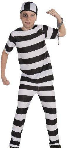 Forum Novelties Striped Convict Costume, Child