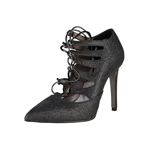 Italia Made Negro Mate In Shoes Mujer De Salón 1xSxHFqw