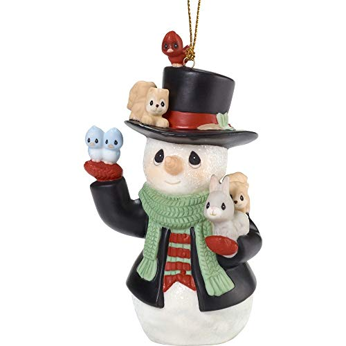 Precious Moments Holiday Christmas Bisque Porcelain Hanging Ornament with S-Hook (Christmas Cheer for All, 181026)