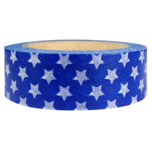 Allydrew 65052 Colorful Patterns Japanese Masking Navy Stars Washi Tape,