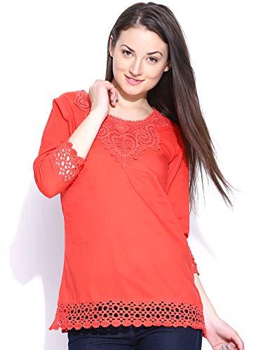 U&F Red Crochet Cotton Top