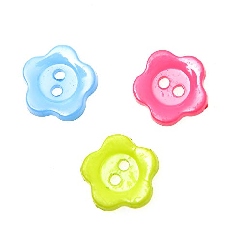 - Monrocco 100PCS 2 Hole Mixed Color Resin Daisy Shape Buttons Flower Resin Buttons