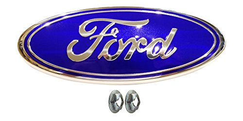 Muzzys FORD F150 LIGHT Blue Grille or Tailgate Emblem WITH NUTS 2005-14, Oval 9