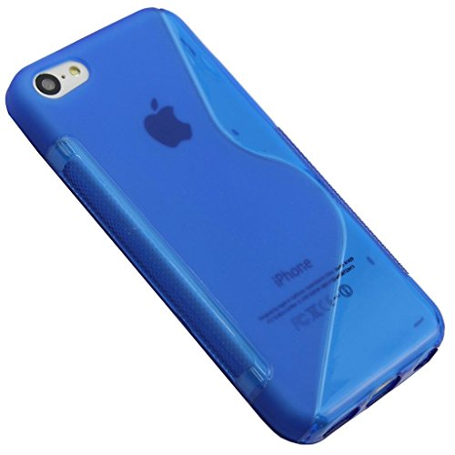 Stunning Style Apple Iphone 5 5G 5S Blue Silicone Gel S Line Grip Case Cover For Apple Iphone 5 5G 5S By G4GADGET®