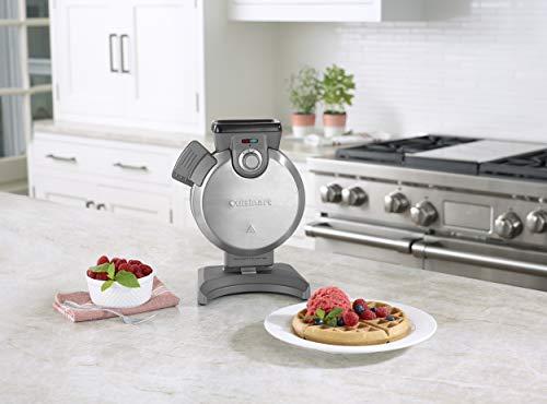 Cuisinart waf-v100 vertical máquina para hacer gofres, color plateado: Amazon.es: Hogar